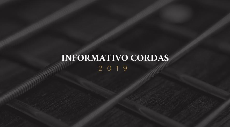 informativo 2019: cursos, oficinas, projetos e apresentações